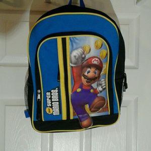 Boys Mario Bros Backpack
